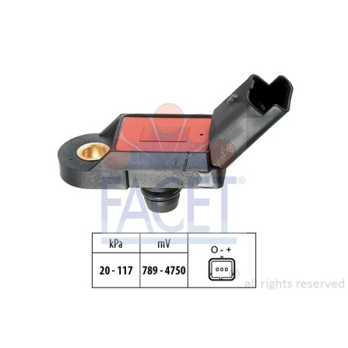 Senzor presiune aer galerie admisie Facet 103056