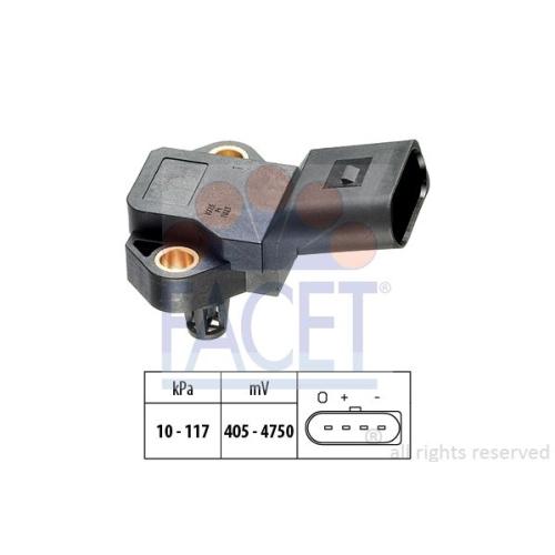 Senzor presiune aer galerie admisie Facet 103105