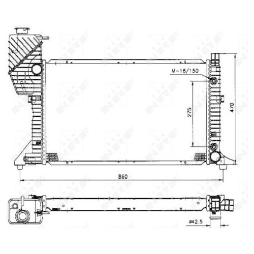 Radiator racire motor Nrf 50574