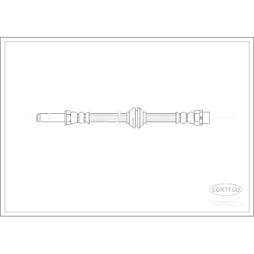 Furtun frana Bmw Seria 3 (E46), Z4 (E85) Corteco 19026628, parte montare : punte fata