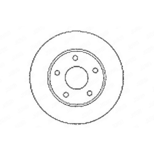 Disc frana Jurid 561549JC, parte montare : punte spate