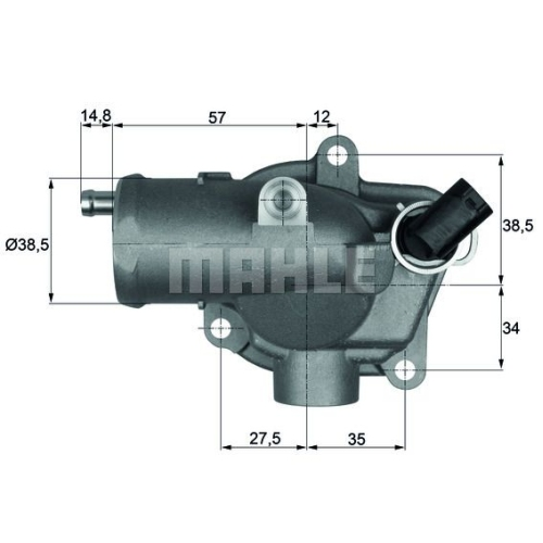Termostat lichid racire Mahle Original TI2892