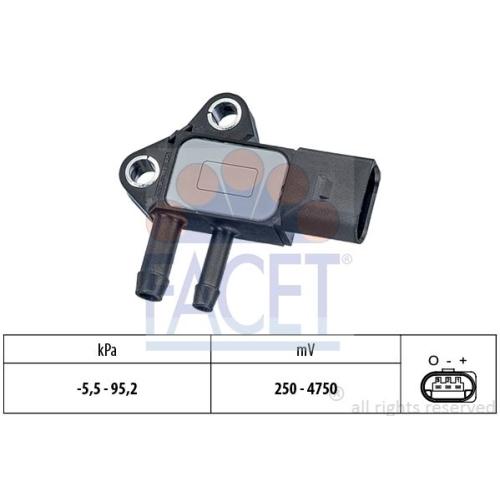 Senzor presiune aer galerie admisie Audi A4 (8ec, B7), A4 Cabriolet (8h7, B6, 8he, B7), A6 (4f2, C6), A8 (4e), Q7 (4l); Vw Phaeton (3d), Touareg (7L) Facet 103297