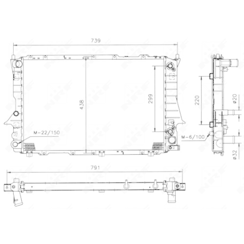 Radiator racire motor Nrf 51319