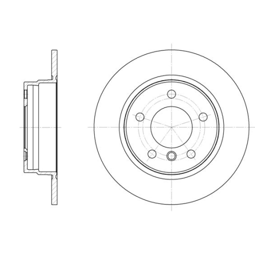 Disc frana Remsa 628400, parte montare : punte spate