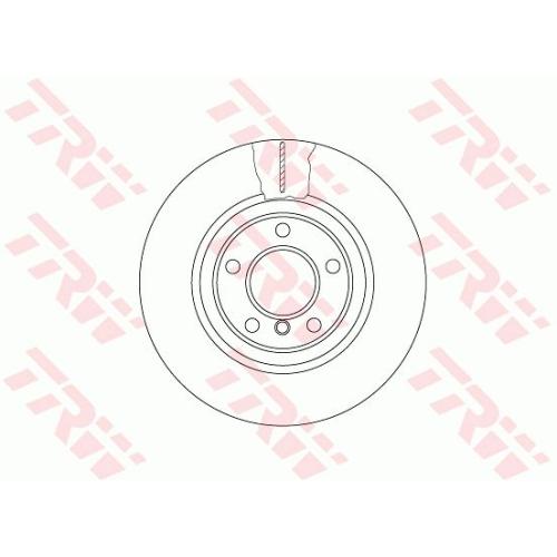 Disc frana Trw DF6616S, parte montare : punte fata