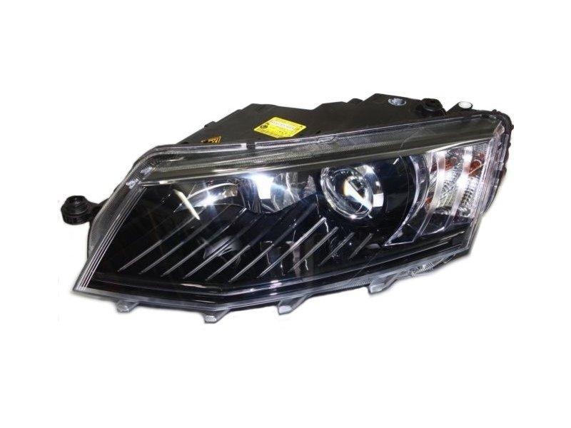 Far Skoda Octavia 3 (5e), 01.2013-05.2017, fata, Stanga, bi-xenon; cu lumini de curbe; cu daytime running light; D3S+P21/5W; electric; fara motoras, AL (Automotive Lighting)