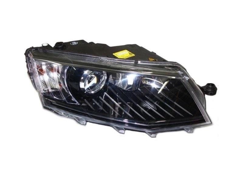 Far Skoda Octavia 3 (5e), 01.2013-05.2017, fata, Dreapta, bi-xenon; cu lumini de curbe; cu daytime running light; D3S+P21/5W; electric; fara motoras, AL (Automotive Lighting)