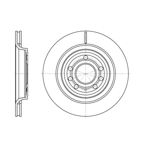 Disc frana Remsa 668610, parte montare : punte spate
