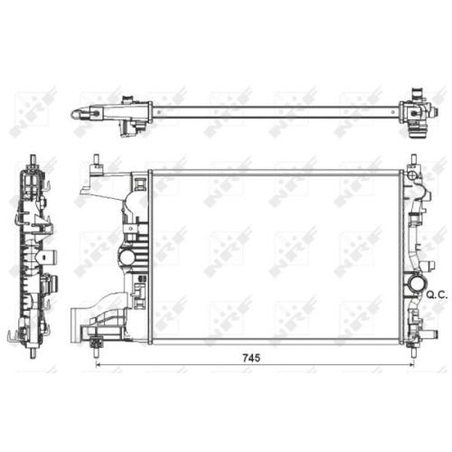 Radiator racire motor Nrf 53155