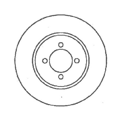 Disc frana Jurid 561375J, parte montare : Punte spate
