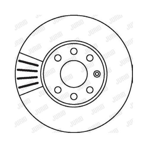 Disc frana Jurid 562069JC, parte montare : punte fata
