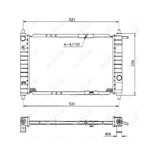 Radiator racire motor Nrf 53250