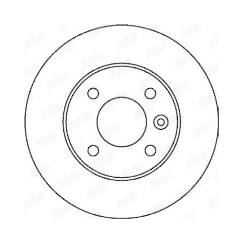 Disc frana Jurid 562071JC, parte montare : punte spate