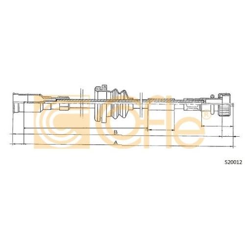 Arbore tahometru Opel Ascona C, Astra F, Kadett D, Vectra A Cofle S20012