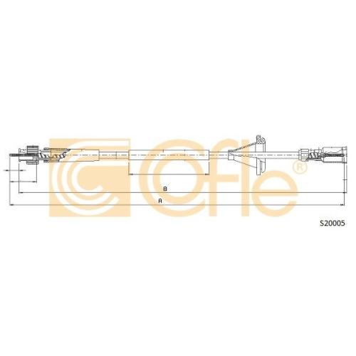 Arbore tahometru Opel Corsa B (73, 78, 79), Tigra (95) Cofle S20005