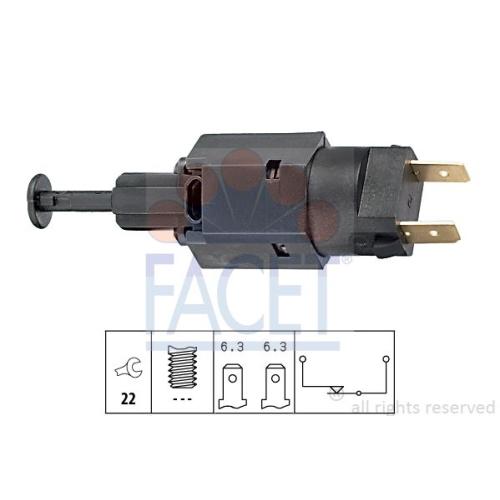 Comutator lumini frana Facet 71050