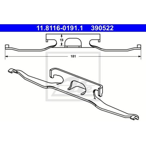 Arc etrier frana Mercedes-Benz Sprinter (901, 902, 903); Vw Lt 28 2 Ate 11811601911, parte montare: punte spate