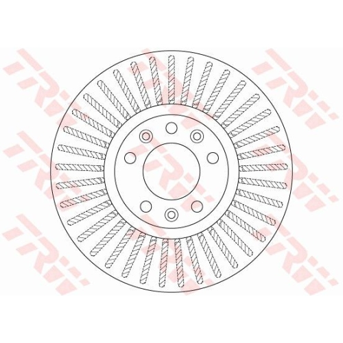 Disc frana Trw DF6419, parte montare : punte fata