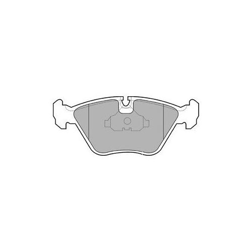 Set placute frana Delphi LP602, parte montare : Punte Fata