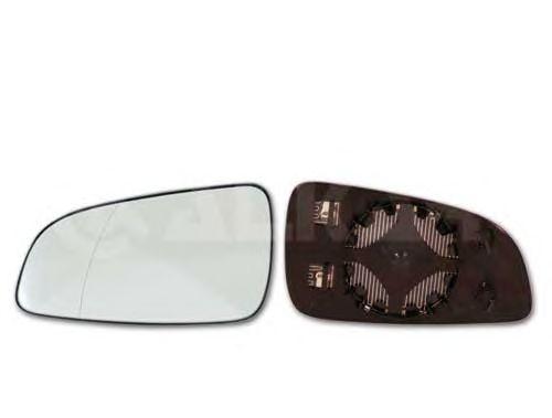 Geam oglinda, sticla oglinda Opel Astra H (L48), Alkar 6432438, parte montare : Dreapta