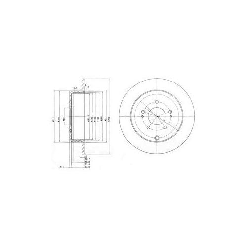 Disc frana Delphi BG4035, parte montare : Punte Spate