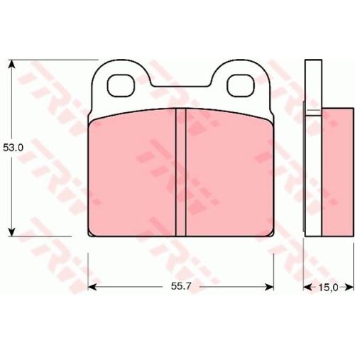 Set placute frana Trw GDB102, parte montare : Punte spate