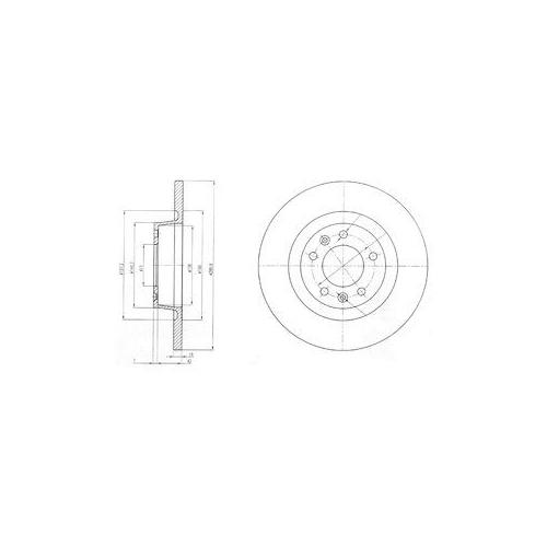Disc frana Delphi BG4085, parte montare : Punte Spate