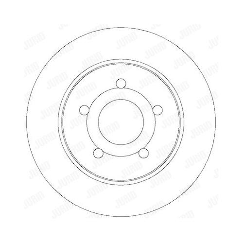 Disc frana Jurid 562361JC, parte montare : punte spate