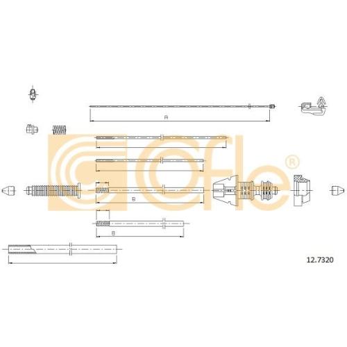Cablu acceleratie Citroen C8 (Ea, Eb), Jumpy (U6u); Peugeot 806 (221), 807 (E) Cofle 127320