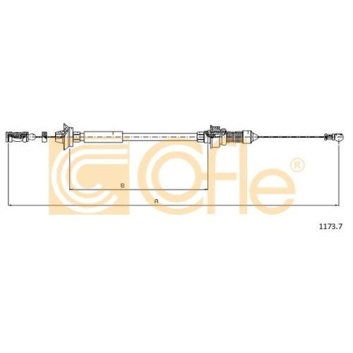 Cablu acceleratie Citroen Jumper (230p); Fiat Ducato (230), Talento (290); Peugeot Boxer (230p) Cofle 11737