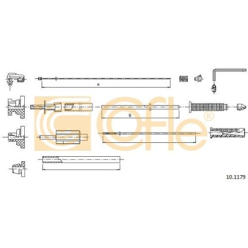 Cablu acceleratie Cofle 101179