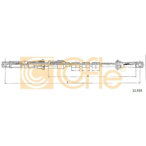 Cablu acceleratie Ford Transit (E, T) Cofle 11919