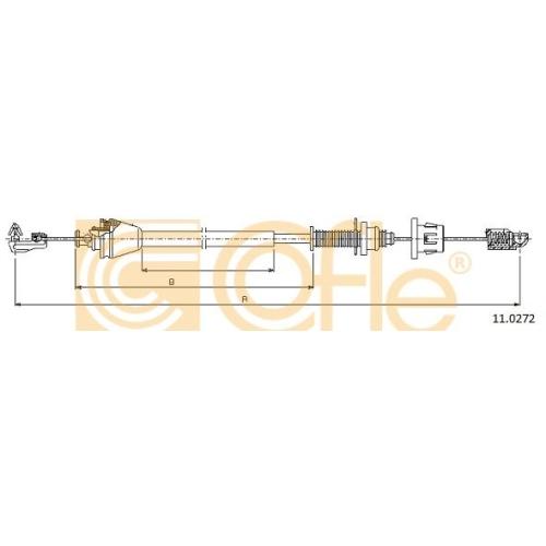 Cablu acceleratie Renault Clio 1, Clio 2, Clio 3 (Br0/1, Cr0/1), Kangoo (Kc0/1), Laguna 1 (B56, 556), Laguna 2 (Bg0/1), Megane 1 (Ba0/1), Megane 2 (Bm0/1, Cm0/1), Megane Scenic (Ja0/1), Scenic 1 (Ja0/1), Scenic 2 (Jm0/1) Cofle 110272