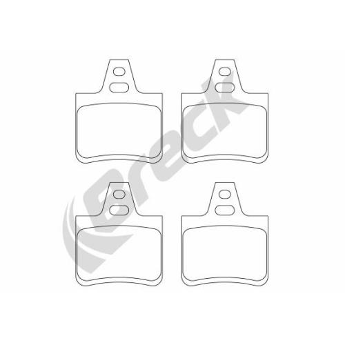 Set placute frana Breck 201620070400, parte montare : Punte spate