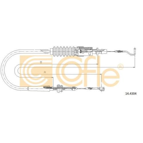 Cablu acceleratie Vw Transporter 4 Cofle 144304