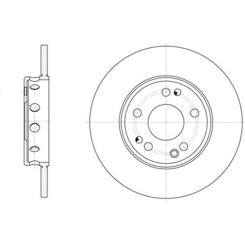 Disc frana Remsa 605900, parte montare : Punte fata