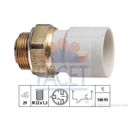 Senzor temperatura ventilator, termocupla radiator Facet 75182