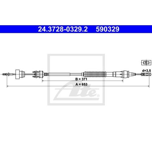 Cablu ambreiaj Citroen Berlingo (Mf), Xsara (N1/ N2); Peugeot Partner (5f) Ate 24372803292