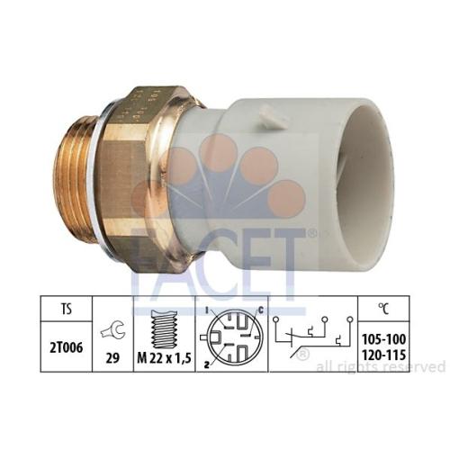 Senzor temperatura ventilator, termocupla radiator Facet 75649