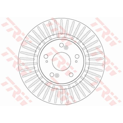 Disc frana Trw DF6432S, parte montare : punte fata