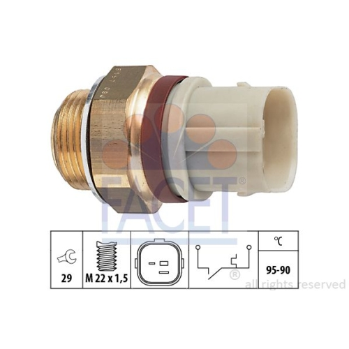 Senzor temperatura ventilator, termocupla radiator Facet 75197