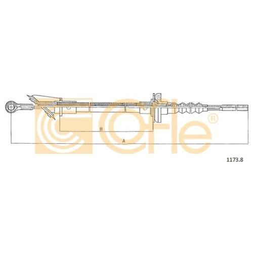 Cablu ambreiaj Citroen C25 (280, 290); Fiat Ducato (280 290); Peugeot J5 (280p) Cofle 11721