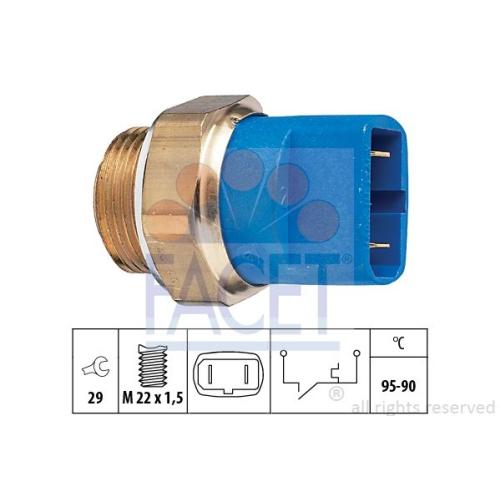 Senzor temperatura ventilator, termocupla radiator Facet 75032