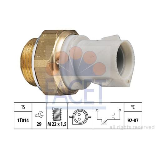 Senzor temperatura ventilator, termocupla radiator Facet 75129