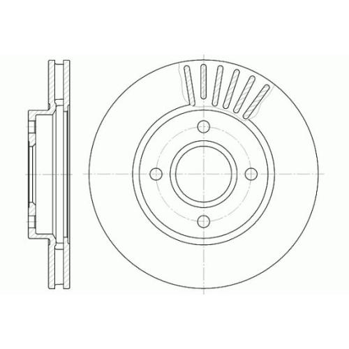Disc frana Remsa 621110, parte montare : Punte fata