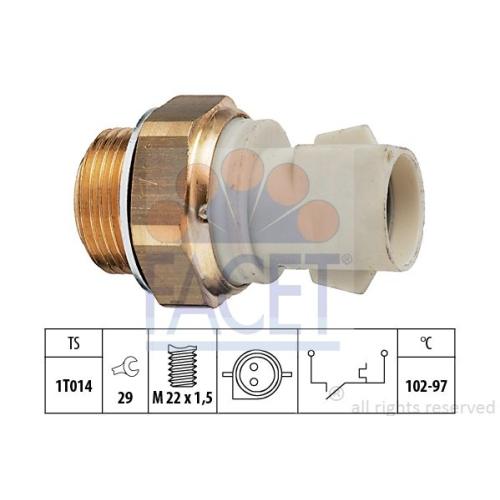 Senzor temperatura ventilator, termocupla radiator Facet 75137