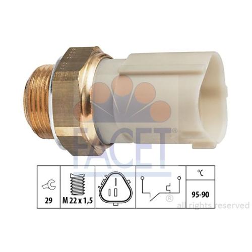 Senzor temperatura ventilator, termocupla radiator Facet 75262