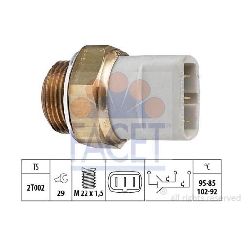Senzor temperatura ventilator, termocupla radiator Facet 75635