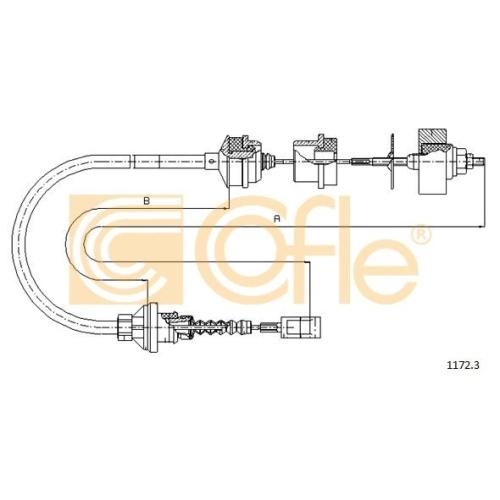 Cablu ambreiaj Citroen Jumper (230p); Fiat Ducato (230), Talento (290); Peugeot Boxer (230p) Cofle 11723